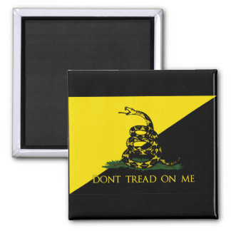 Dont Tread On Me Anarchist Flag 2 Inch Square Magnet