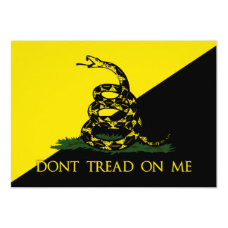Dont Tread On Me Anarchist Flag 5x7 Paper Invitation Card