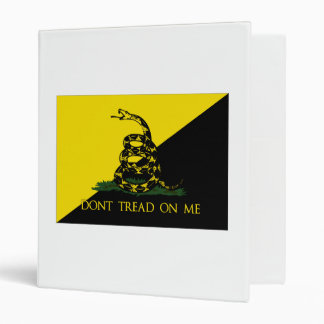 Dont Tread On Me Anarchist Flag 3 Ring Binder