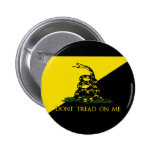 Dont Tread On Me Anarchist Flag Buttons