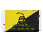 Dont Tread On Me Anarchist Flag Motorola Droid RAZR Cover