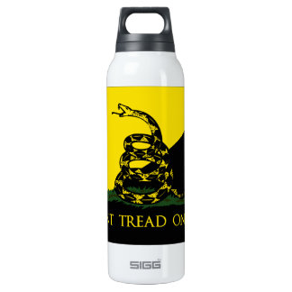 Dont Tread On Me Anarchist Flag Insulated Water Bottle