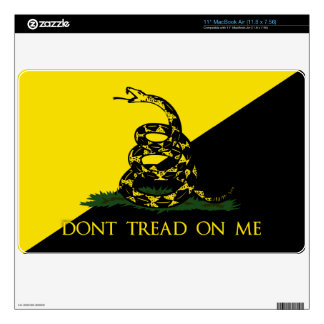 """Dont Tread On Me Anarchist Flag Skins For 11"""" MacBook Air"""