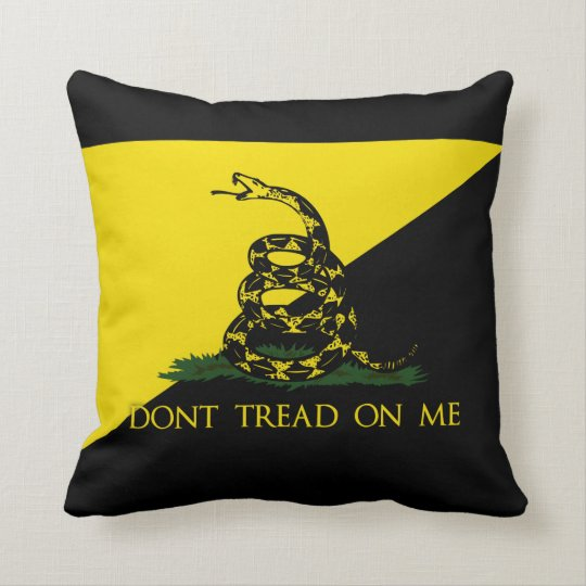 Dont Tread On Me Anarchist Flag Throw Pillow