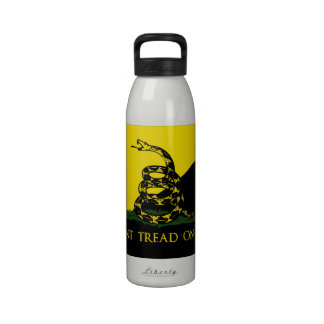 Dont Tread On Me Anarchist Flag Drinking Bottle
