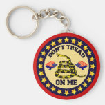 Don't Tread On Me Basic Round Button Keychain