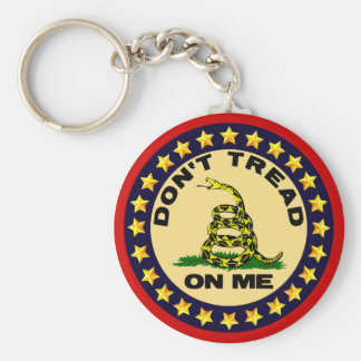 Don't Tread On Me! Basic Round Button Keychain