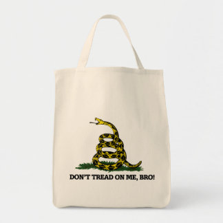 Don't Tread on me Bro Grocery Tote Bag