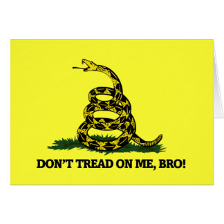 Don't Tread on me Bro Stationery Note Card