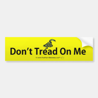 Don't Tread On Me Bumper Sticker