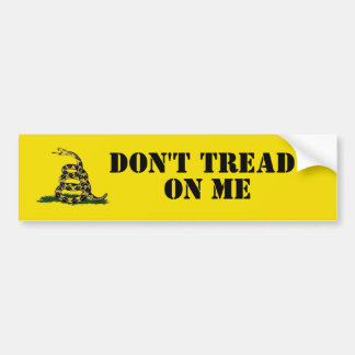 Don't Tread On Me Bumpersticker Bumper Sticker