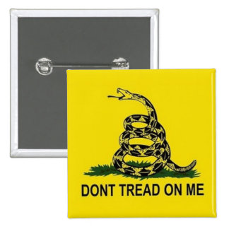 Don't Tread on Me 2 Inch Square Button