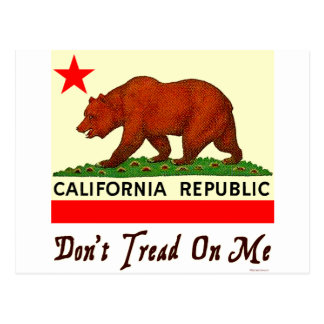 Don't Tread on Me California Bear Flag Postcard