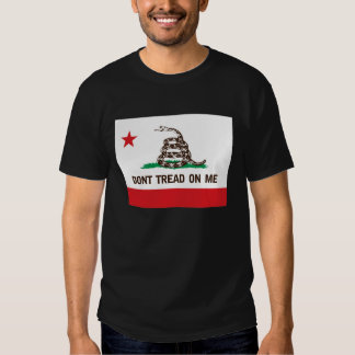 DONT TREAD ON ME -- CALIFORNIA STATE FLAG SHIRTS