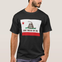 DONT TREAD ON ME -- CALIFORNIA STATE FLAG T-Shirt