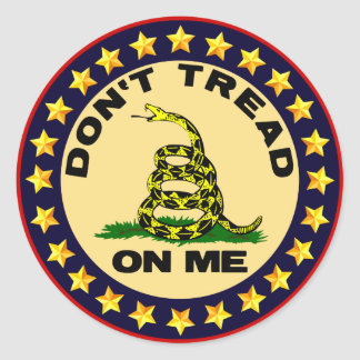 Don't Tread On Me! Classic Round Sticker