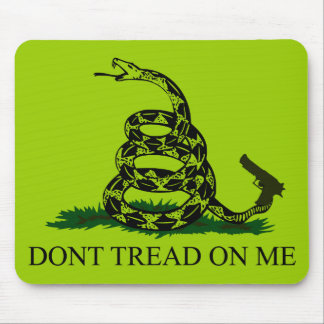 Don't tread on me! Clear snake Mouse Pad
