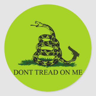Don't tread on me! Clear snake Round Stickers