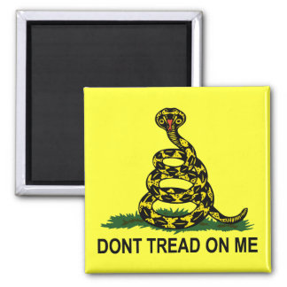 Dont Tread On Me Cobra 2 Inch Square Magnet
