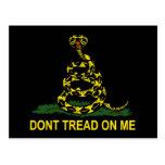 Dont Tread On Me Cobra Post Card