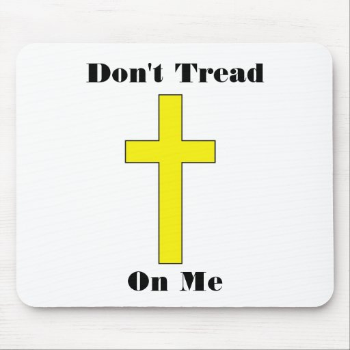 Don't Tread On Me Cross Religious Freedom Mouse Pad
