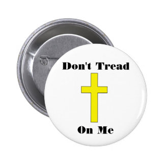 Don't Tread On Me Cross Religious Freedom Pin