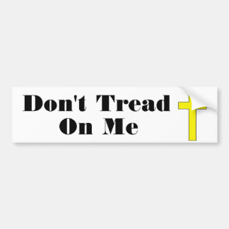 Don't Tread On Me  Cross Religious Freedom Sticker Bumper Stickers
