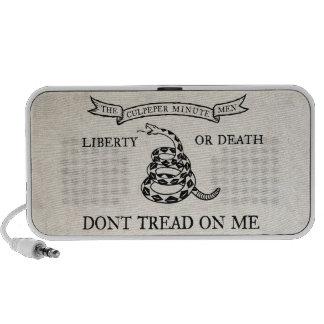 Don't Tread On Me Culpeper Flag Doodle Speaker