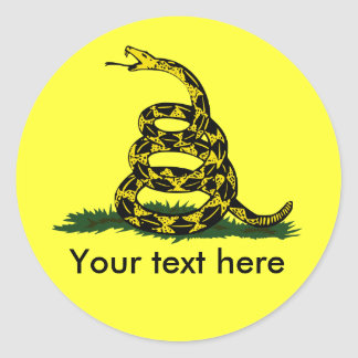 Don't tread on me cusatomizable round stickers