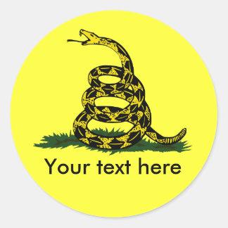 Don't tread on me cusatomizable classic round sticker