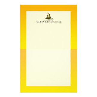 Don't Tread on Me Ensign Stationery