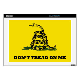 "Don't Tread On Me flag 17"" Laptop Decal"