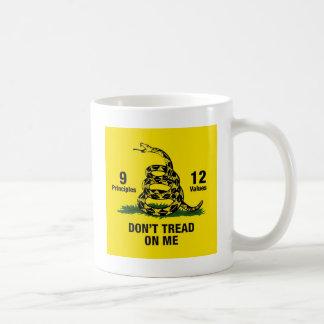 Don't Tread on Me Flag 9 Principles 12 Values Coffee Mug