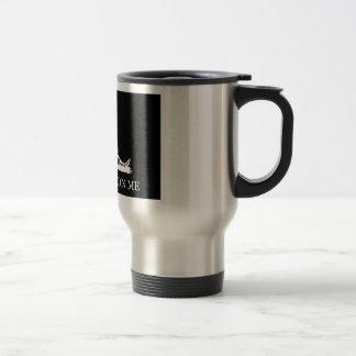 Don't Tread On Me Flag -- Black and White Mug