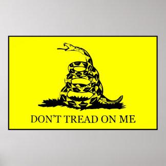 Don't Tread On Me Flag -- Black Border Poster