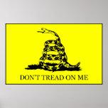 Don't Tread On Me Flag -- Black Border Print
