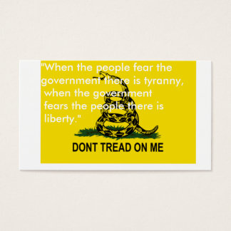 Dont tread on me flag cards