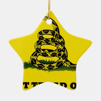 Don't Tread On Me flag Ceramic Ornament