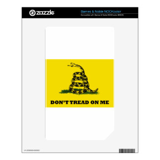 Don't Tread On Me flag Decals For The NOOK Color