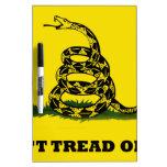 Don't Tread On Me flag Dry Erase Whiteboard