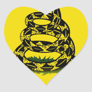 Don't Tread On Me flag Heart Sticker