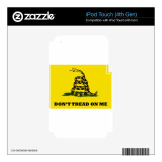 Don't Tread On Me flag iPod Touch 4G Decal