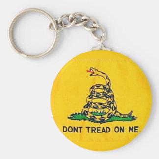 Dont Tread On Me Flag Keychain