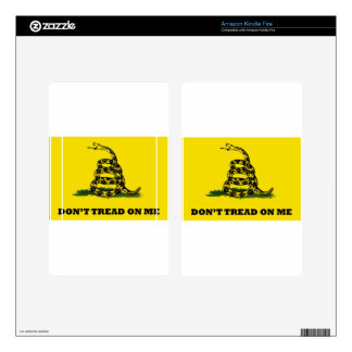 Don't Tread On Me flag Kindle Fire Decals