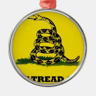 Don't Tread On Me flag Metal Ornament