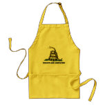 Don't tread on me flag parody adult apron