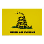 Don't tread on me flag parody posters