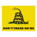 Don't Tread On Me flag Postcard