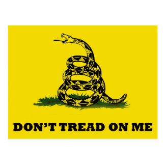 Don't Tread On Me flag Postcard