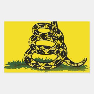 Don't Tread On Me flag Rectangular Sticker